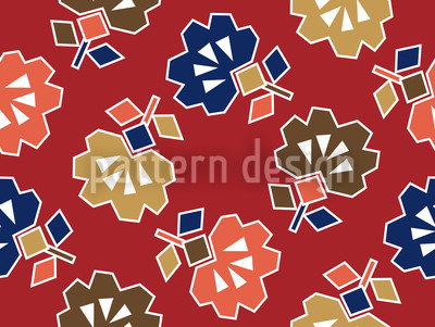 Spiky Red Seamless Vector Pattern Design