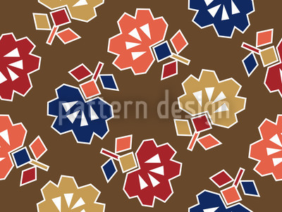 Spiky Brown Seamless Vector Pattern Design