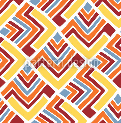 Boomerang Red Seamless Vector Pattern Design