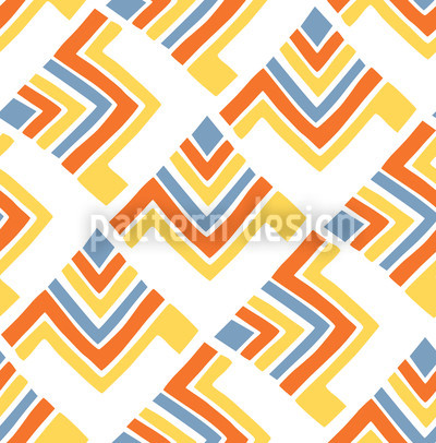 Boomerang White Seamless Vector Pattern Design