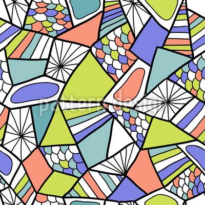 Modern Abstract Mosaic Seamless Vector Pattern Design