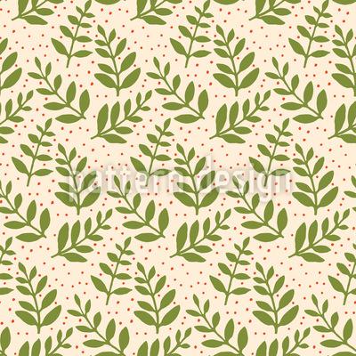 Weihnachts-Blätter Nahtloses Vektor Muster