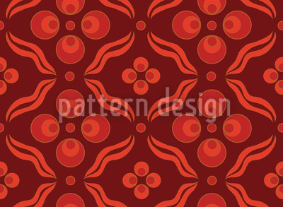 Ottomani Red Vector Pattern