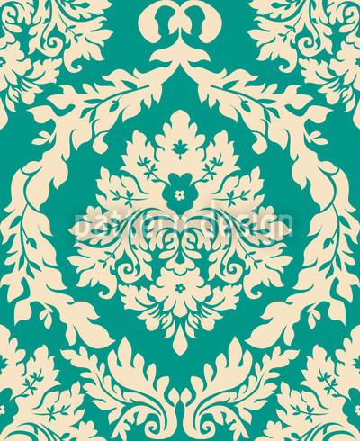 Damask Emerald Repeating Pattern