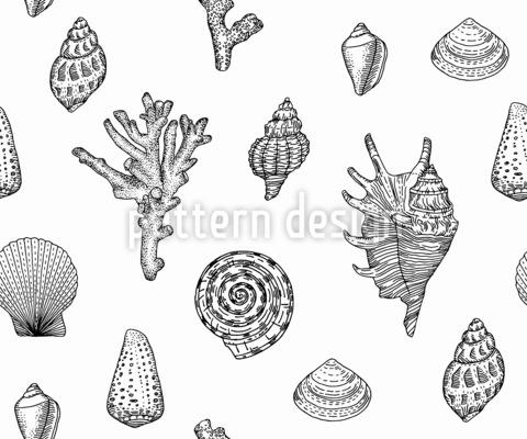 貝殻パラダイス シームレスなベクトルパターン設計