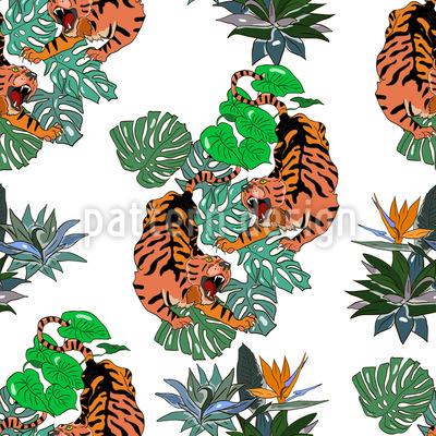 wütende tiger muster design