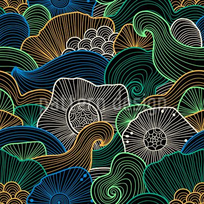 カリブ海海海辺 シームレスなベクトルパターン設計
