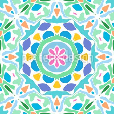Gekacheltes Mandala Rapportiertes Design