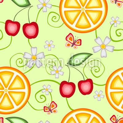 Fruchtiges Sommer Muster Design