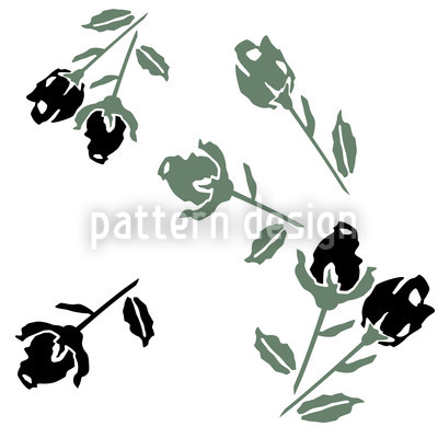 Black Roses Vector Design