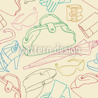 Bunte Mode-Illustrationen Musterdesign
