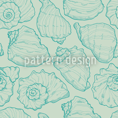 Shellfish Aqua Repeat Pattern