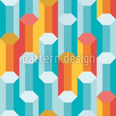 火と氷の柱 シームレスなベクトルパターン設計
