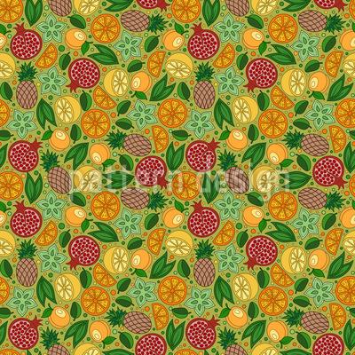 Exotic Fruit Paradise Pattern Design