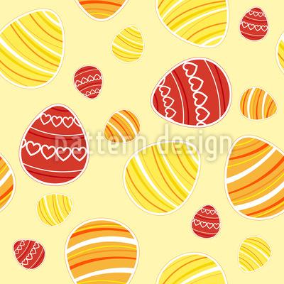 Sommerliche Ostereier Musterdesign