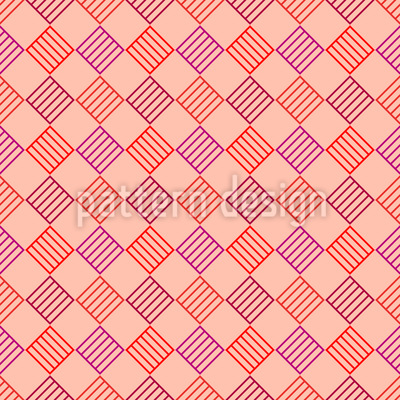 Check From Striped Squares Vector Ornament