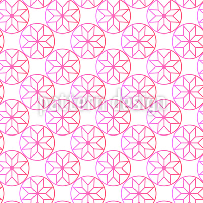 دائرة الزهور تصميم نمط ناقلات سلس