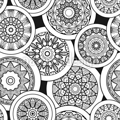 マンダラのミーティング シームレスなベクトルパターン設計
