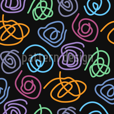 Espirales Estampado Vectorial Sin Costura