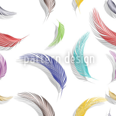 Colorful Feather Pattern Seamless Vector Pattern Design