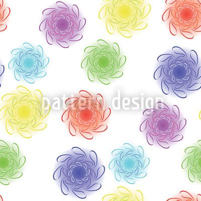 Farbiges Floral Rapportiertes Design