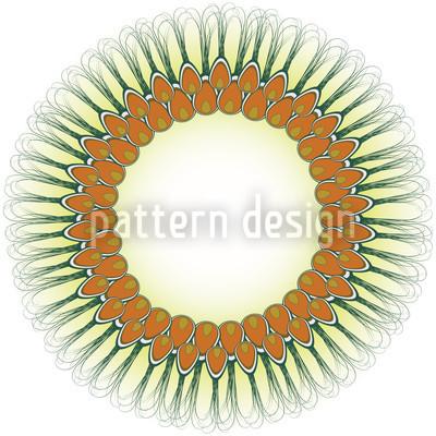 Pfauenfeder Mandala Rapportmuster