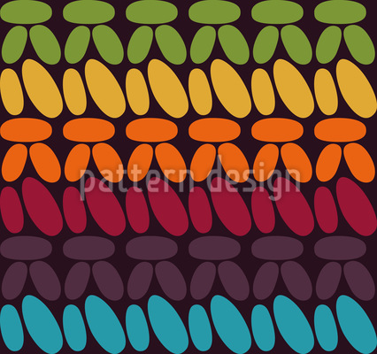 シングルかぎ針編み シームレスなベクトルパターン設計