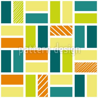 新鮮な長方形 シームレスなベクトルパターン設計