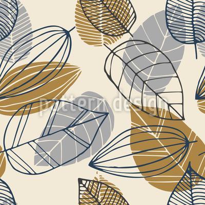 葉絵 シームレスなベクトルパターン設計