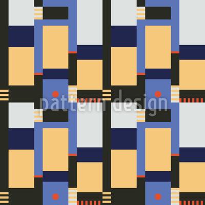 Blocos Bauhaus Design de padrão vetorial sem costura