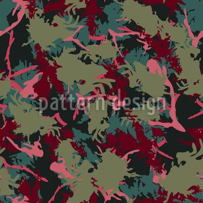 Korallen Camouflage Nahtloses Vektormuster