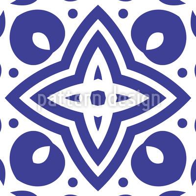Azulejos de Medalhão Design de padrão vetorial sem costura