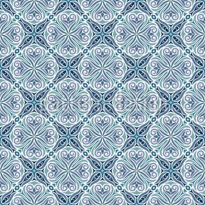 Elegante azulejo arabesco Estampado Vectorial Sin Costura