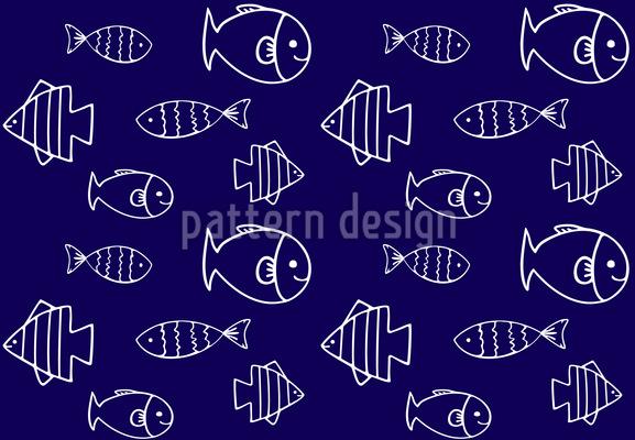 Wasserwelt Nahtloses Muster
