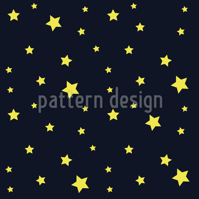 Sterne Am Nachthimmel Nahtloses Vektormuster