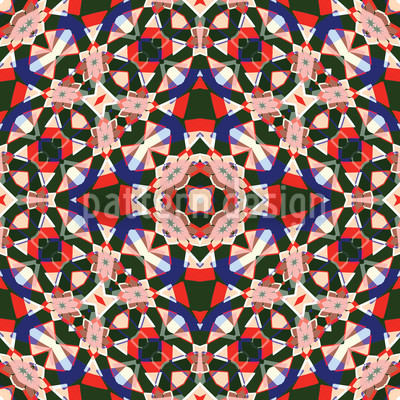 Kaleidoscope Seamless Vector Pattern Design
