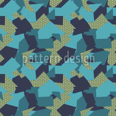 Camouflage Geometrie Nahtloses Vektormuster