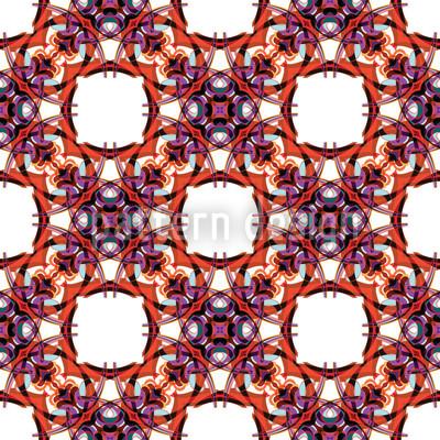 Gothic Kaleidoscope Vector Pattern