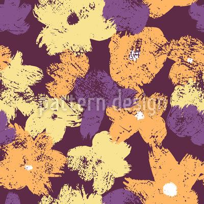 Flores de contraste Estampado Vectorial Sin Costura