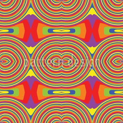 Rainbow Retro Seamless Vector Pattern
