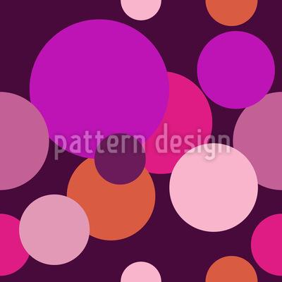 Bolinhas de tamanhos diferentes Design de padrão vetorial sem costura