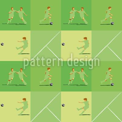 Fußball-Karo Vektor Muster