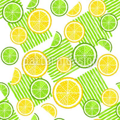 Limetten Und Zitronen Vektor Ornament