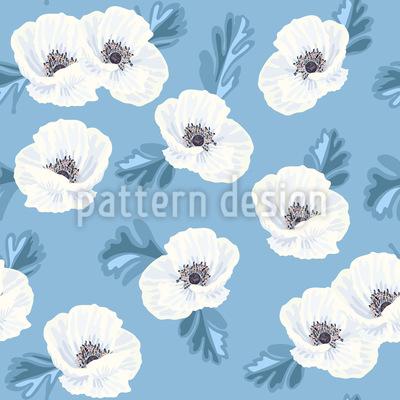Stilisierte Anemonen Muster Design