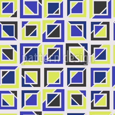 Quadrados divididos Design de padrão vetorial sem costura