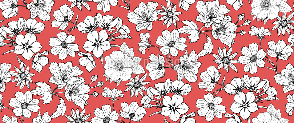 Red White Red Pattern Design