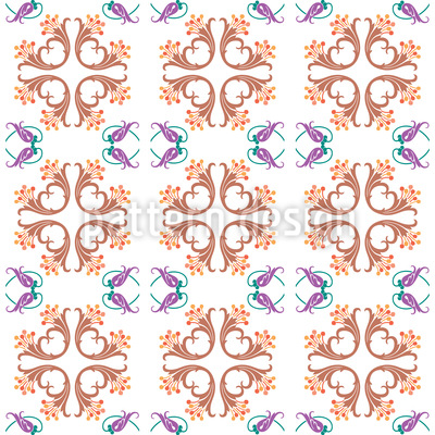 Bouquet Of Trumpets Seamless Vector Pattern Design