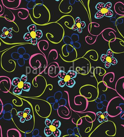 Blumenwirbel Nahtloses Vektor Muster