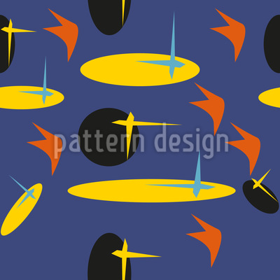 Prancha de surf anos 80 Design de padrão vetorial sem costura