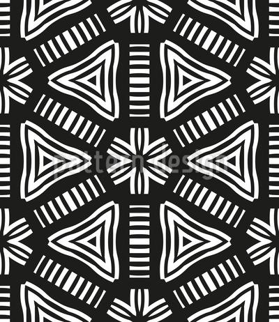 Statement Geometrie Nahtloses Vektormuster